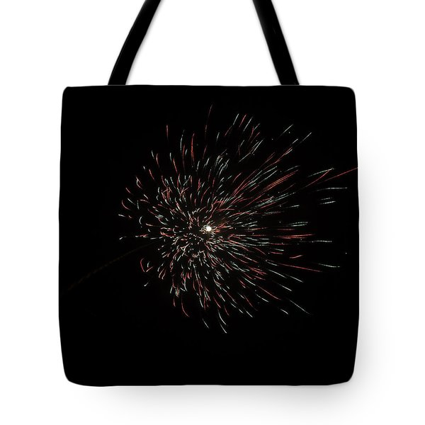 Colorful Burst Of Firecrackers High In The Sky Tote Bag by Ashish Agarwal