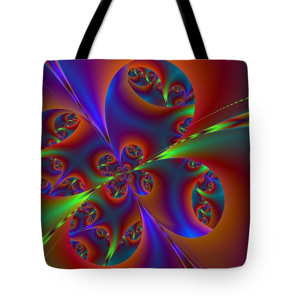 Tote Bag featuring the digital art Colorful Butterfly by Ester  Rogers