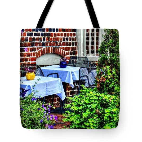 Colorful Dining Tote Bag by Debbi Granruth