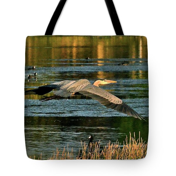 Colorful Evening Flight Tote Bag by Carol  Bradley