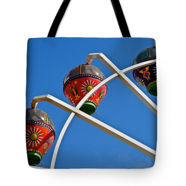 Colorful Ferris Wheel In Glenelg Tote Bag by Kirsten Giving
