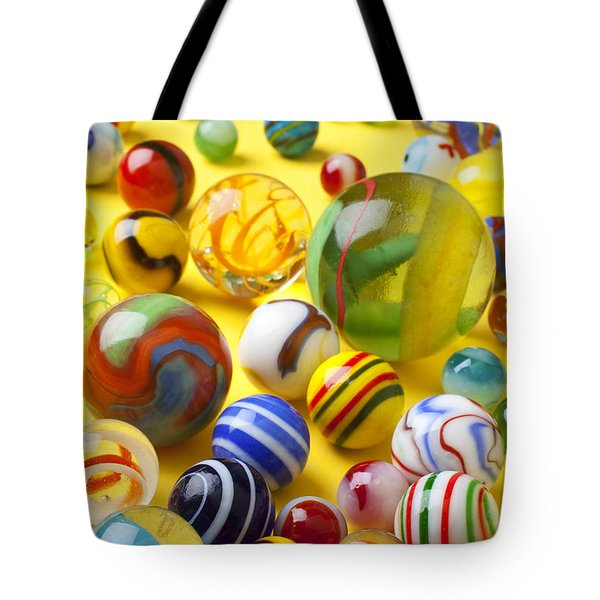 Colorful Marbles Tote Bag by Garry Gay