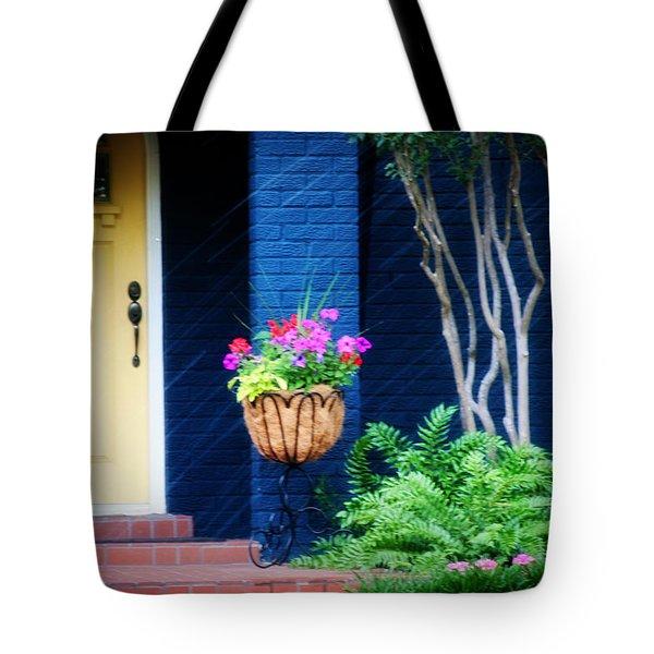 Colorful Porch Tote Bag by Toni Hopper
