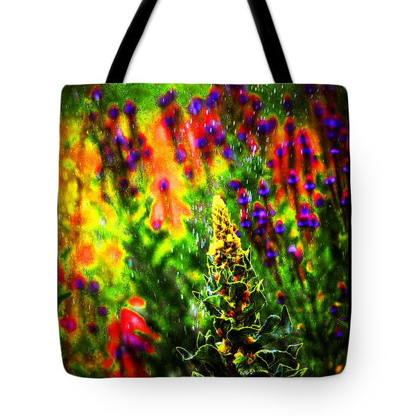 Colors Through The Rain Iv Tote Bag
