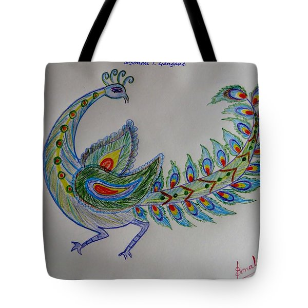 Colourful Bird Tote Bag by Sonali Gangane