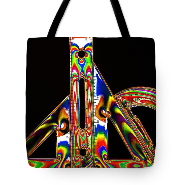Tote Bag featuring the photograph Colourful Geometry by Steve Purnell