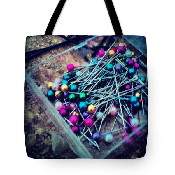 Colourful Pins Tote Bag by Vicki Field