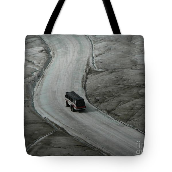 Tote Bag featuring the photograph Columbia Icefield Glacier Adventure by Laurel Best