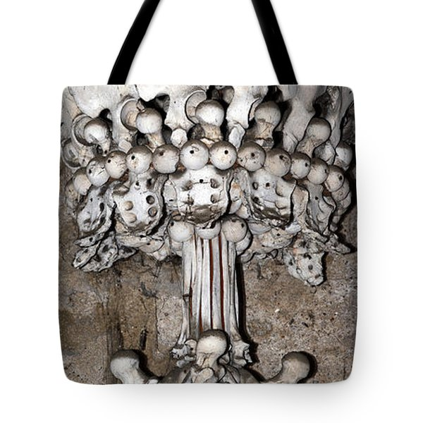 Column From Human Bones And Sku Tote Bag by Michal Boubin