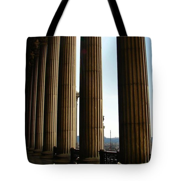 Tote Bag featuring the photograph Columns by Patrick Witz