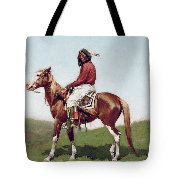 Comanche Brave Tote Bag by Frederic Remington