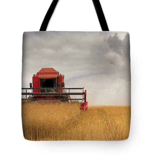 Combine Harvester, North Yorkshire Tote Bag by John Short