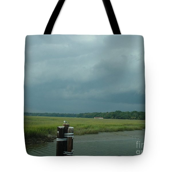 Coming On  Tote Bag by Mark Robbins