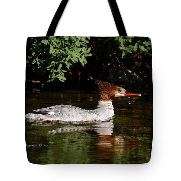 Tote Bag featuring the photograph Common Merganser by Steven Clipperton