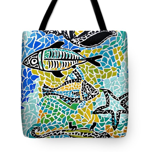 Comotion In The Ocean Tote Bag