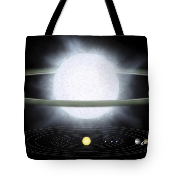 Comparison Of The Size Of A Hypergiant Tote Bag by Stocktrek Images