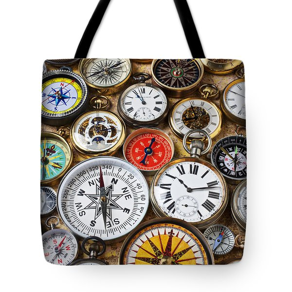 Compases And Pocket Watches  Tote Bag