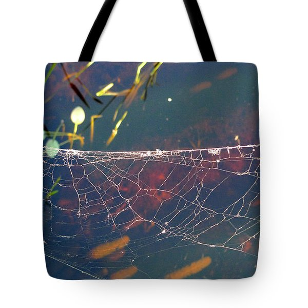 Tote Bag featuring the photograph Complexity Of The Web by Nina Prommer
