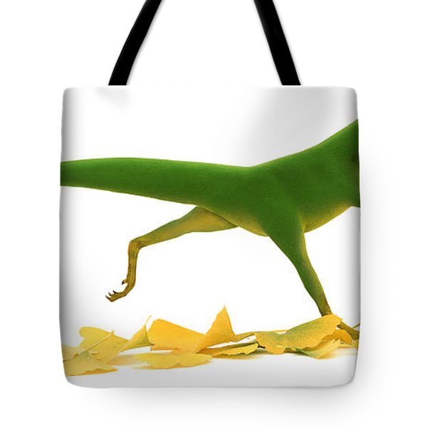Compsognathus Tote Bag by Jane Burton and Warren Photographic and Photo Researchers