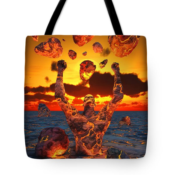 Conceptual Image Based On The Biblical Tote Bag by Mark Stevenson