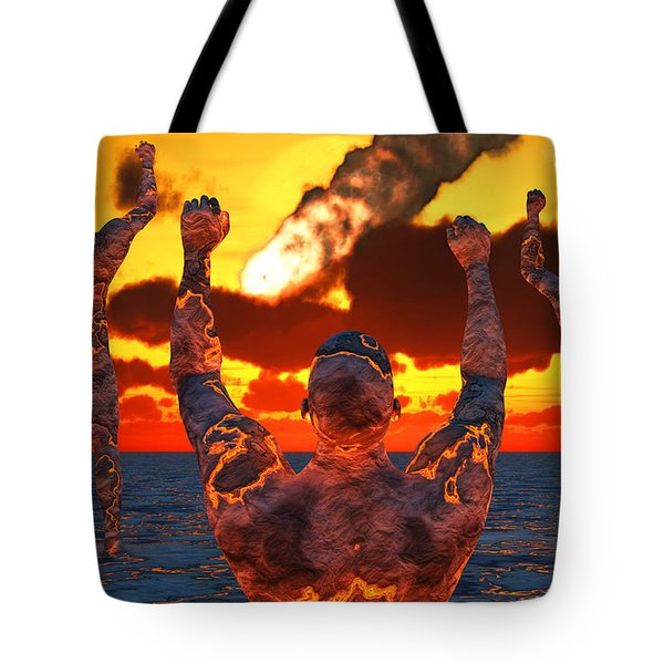 Conceptual Image Based On The Myths Tote Bag by Mark Stevenson