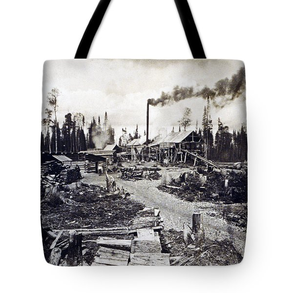 Concord New Hampshire - Logging Camp - C 1925 Tote Bag by International  Images