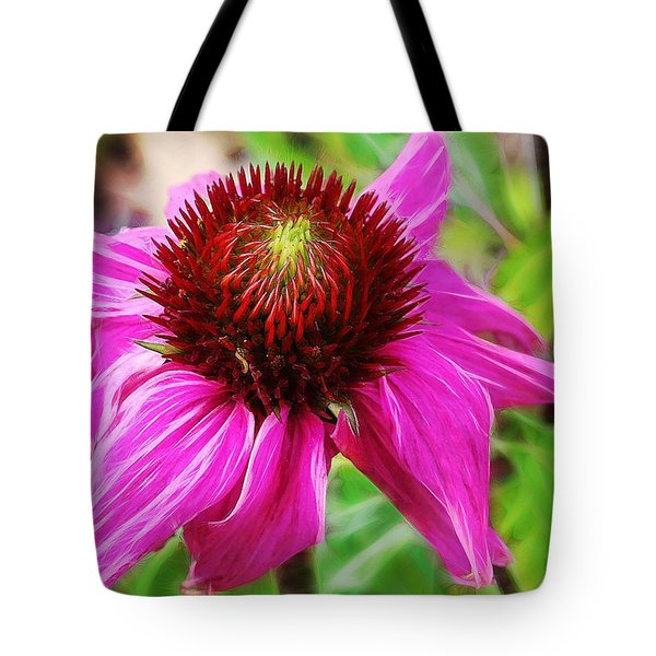 Coneflower Tote Bag by Judi Bagwell