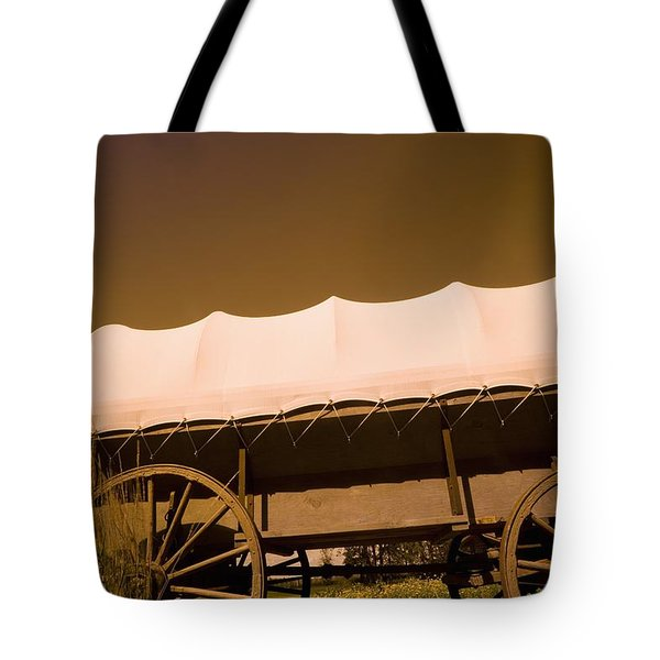 Conestoga Wagon Tote Bag by Darren Greenwood