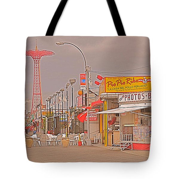Coney Island Boardwalk Tote Bag