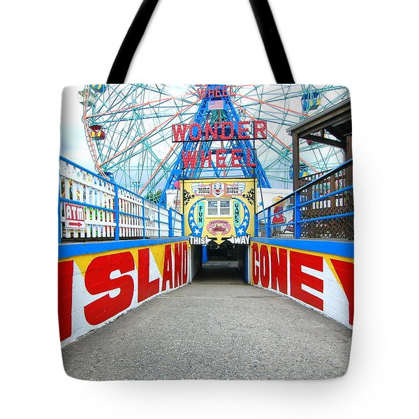 Coney Island Sign Tote Bag