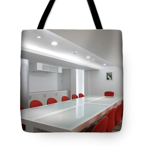 Conference Room Interior Tote Bag by Setsiri Silapasuwanchai