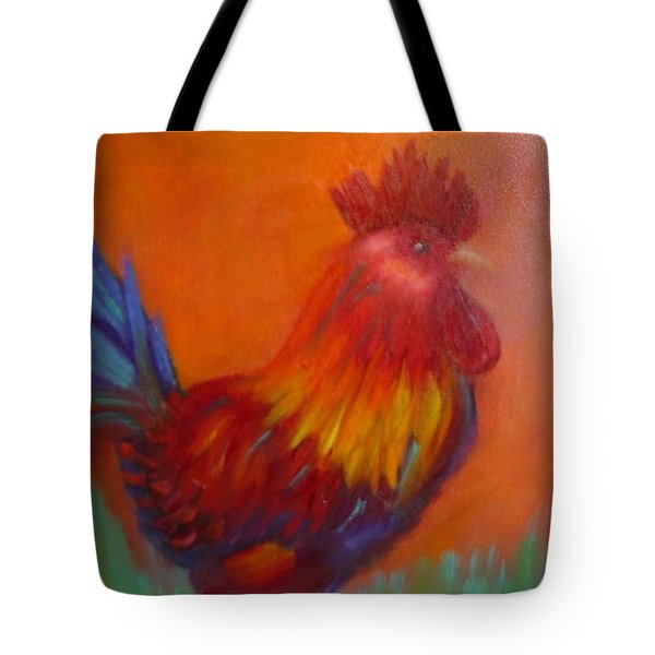 Confident Rooster Tote Bag