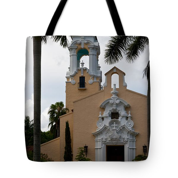 Tote Bag featuring the photograph Congregational Church Front Door by Ed Gleichman