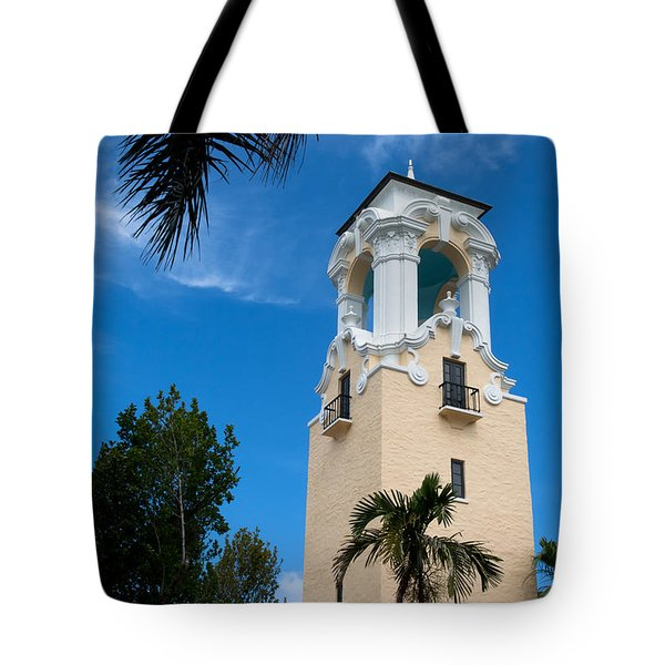 Tote Bag featuring the photograph Congregational Church Of Coral Gables by Ed Gleichman