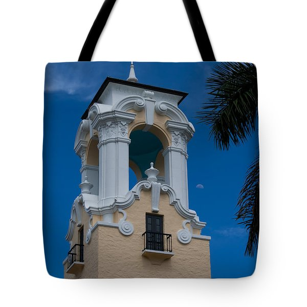 Tote Bag featuring the photograph Congregational Church Tower by Ed Gleichman