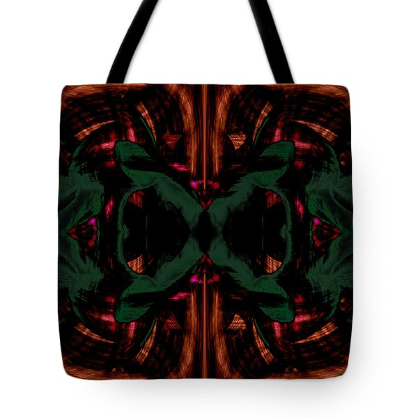 Conjoint - Copper And Green Tote Bag by Christopher Gaston