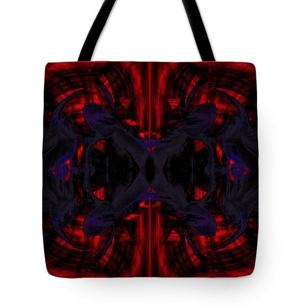 Conjoint - Crimson And Royal. Tote Bag by Christopher Gaston