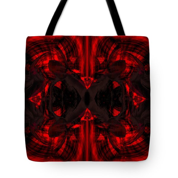 Conjoint - Crimson Tote Bag by Christopher Gaston