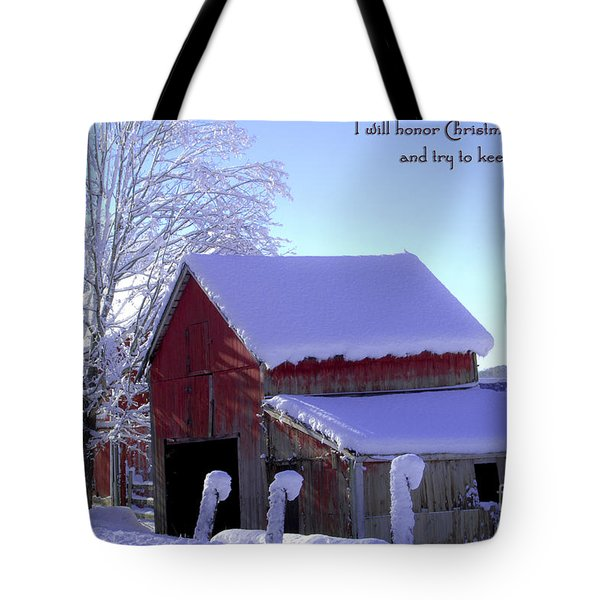 Connecticut Christmas Connecticut Usa Tote Bag by Sabine Jacobs
