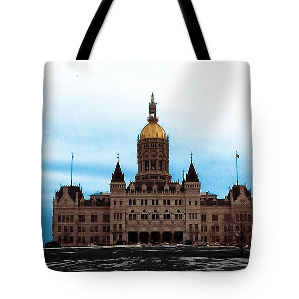Connecticut State House Tote Bag by Margaret Harmon