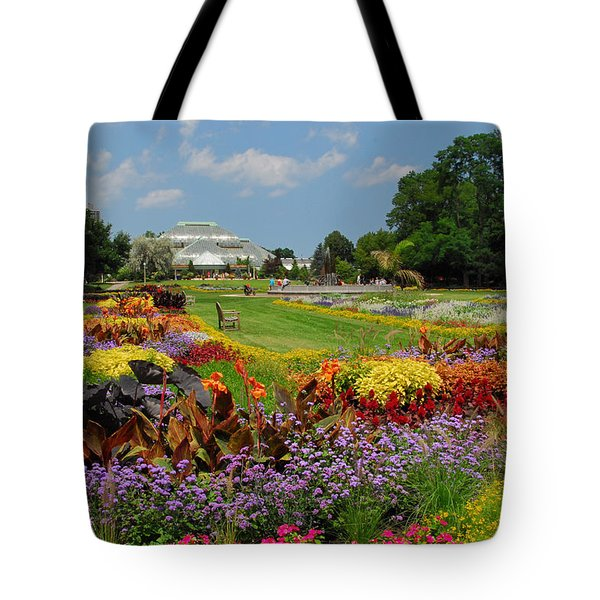 Tote Bag featuring the photograph Conservatory Gardens by Lynn Bauer