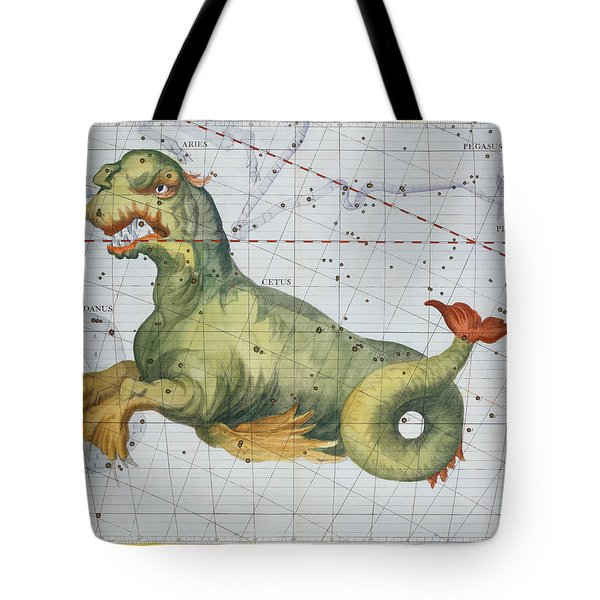 Constellation Of Cetus The Whale Tote Bag by James Thornhill