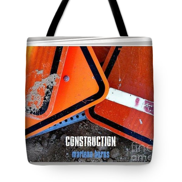 Construction  Abstract Photography Book Tote Bag by Marlene Burns