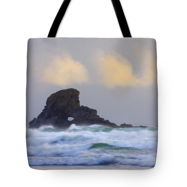 Consumed By The Sea Tote Bag by Mike  Dawson
