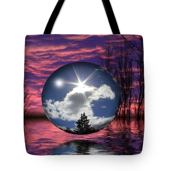 Contrasting Skies Tote Bag