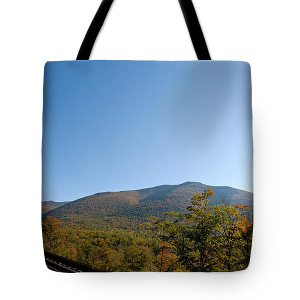 Conway Scenic Railroad - Short Tote Bag by Geoffrey Bolte