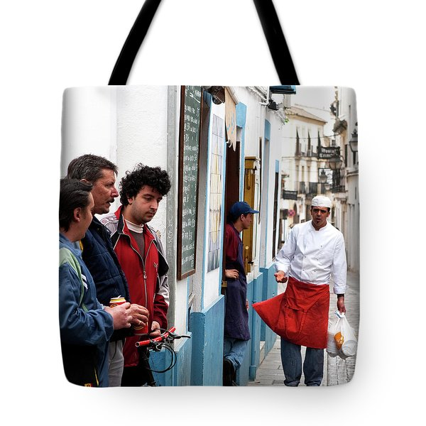 Tote Bag featuring the photograph Cook And The Corner Boys by Lorraine Devon Wilke