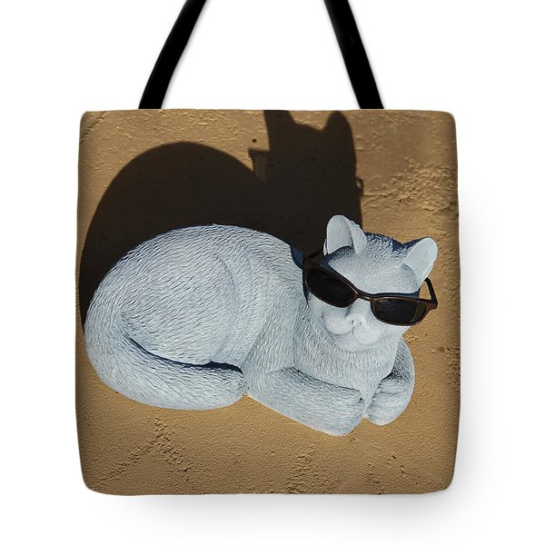 Cool Cat Tote Bag by Aimee L Maher Photography and Art Visit ALMGallerydotcom