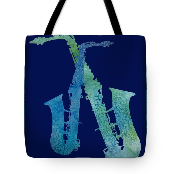 Cool Jazzy Duet Tote Bag by Jenny Armitage