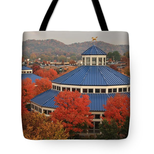 Coolidge Park Carousel Tote Bag by Tom and Pat Cory